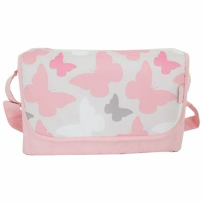 New My Babiie Pink Butterflies Baby Maternity Nappy Changing Bag & Change Mat