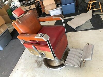 PAIDAR 1960 Barber Chair ANTIQUE VINTAGE New York