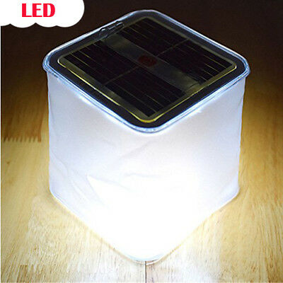 Solar Power Bright Inflatable Lantern Lamp LED Camping Hiking Outdoor Tent Light