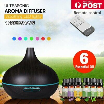 Aroma Aromatherapy Diffuser LED Essential Oil Ultrasonic Air Humidifier Purifie