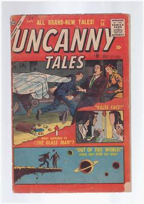 Uncanny Tales # 56  Out of This World !  grade 3.0 scarce Atlas book !