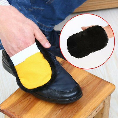 Soft Wool Plush Suede Leather Shoes Cleaner Polishing Brush Shoe Gloves Wipe