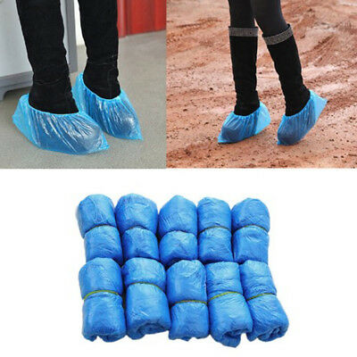 20 PCS Plastic Disposable Shoe Covers Cleaning Overshoes Protective