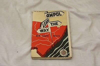 Vintage Map - Ampol Motor Oil New South Wales, Australia