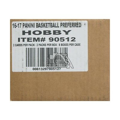 2016-17 Panini Preferred Basketball Hobby 8-Box Case