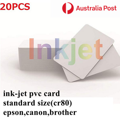 30mil Inkjet PVC Card For Canon Epson Inkjet Printers Staff Business Cards