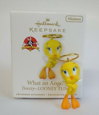 Hallmark Miniature Christmas Ornament Looney Tunes Tweety Bird What An Angel