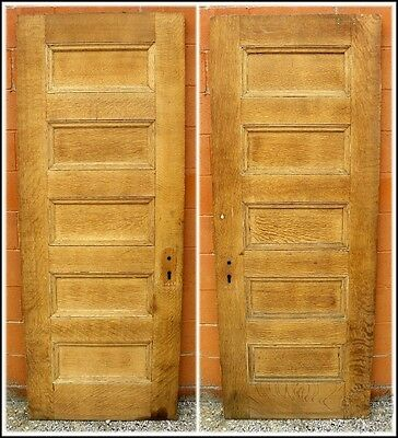 Antique 5 Panel Oak Veneer Solid Core Ash Interior Door Sandblasted Stain Ready!