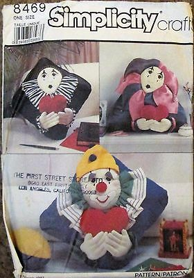 SIMPLICITY Sewing CRAFT Pattern #8469 CLOWN JESTER PILLOWS UNCUT