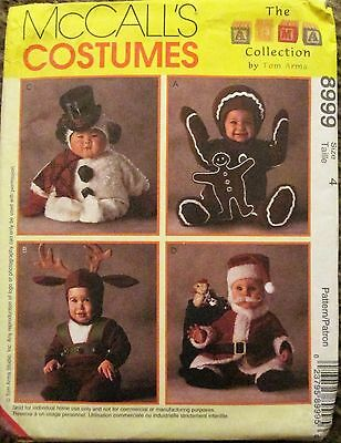 McCALL'S Sewing Pattern #8999 TODDLER CHRISTMAS REINDEER COSTUME '97 Sz 4 UNCUT
