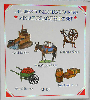 1998 AH121 Liberty Falls 5 Different  Hand Painted Solid Pewter Accessories