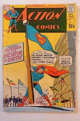 Action Comics 381 Superman Silver Age 1969 DC  VG-/VG Condition