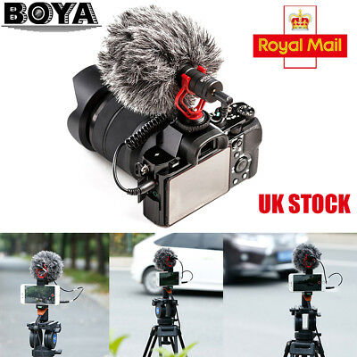 BOYA BY-MM1 Universal Cardiod Shotgun Microphone for Smartphone Samsung DSLR