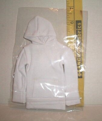 1/6 Scale Male Fashion Doll White Hoodie Coat Clothes Accessory Only