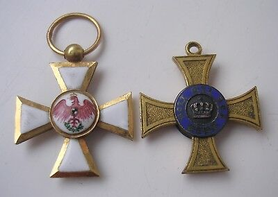 Miniature medal Prussian Order of Red Eagle & O. of Crown SUPERB QUALITY German