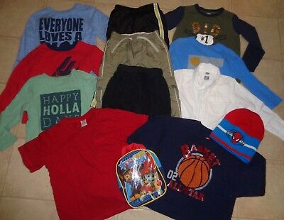 Huge Lot Of Boys Winter Clothes Pants Shirts Old Navy Gymboree Outfits Size 4T