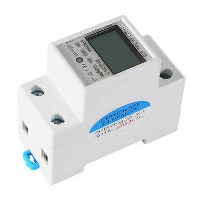 Big LCD Single Phase 2 Wire 5(80)A 230V 50/60Hz DIN Rail Energy Meter KWH TE979