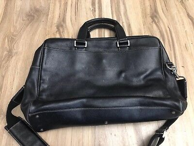 Coach Mens Leather Computer Commuter Messenger Bag From 2000 S Black H04s 5153