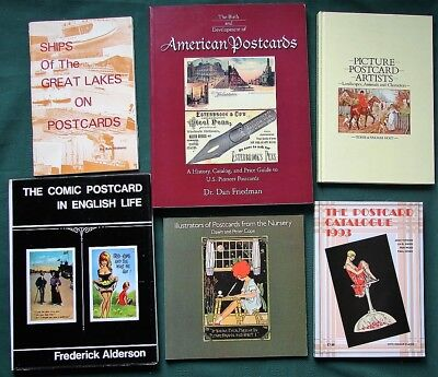 Postcard Collecting - Lot of 25 reference books - Deltiology
