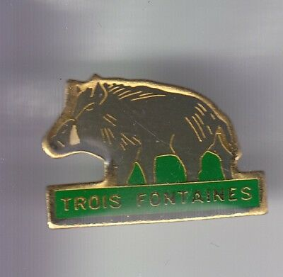 Rare Pins Pin's .. Sport Chasse Hunting Club Sanglier Boar Trois Fontaines 57~Ec
