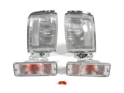 DEPO Clear Corner+Bumper Signal Lights For 1984-1986 Toyota Pickup Truck 2WD/4WD