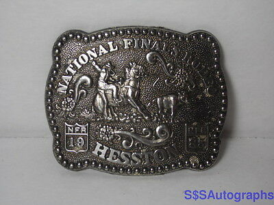 Vintage 1985 NATIONAL FINALS RODEO HESSTON 3rd Edition Fred Fellows BELT BUCKLE