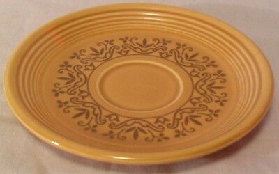 Vintage Homer Laughlin Fiesta Coventry Casualstone Antique Gold Cup Saucer Plate