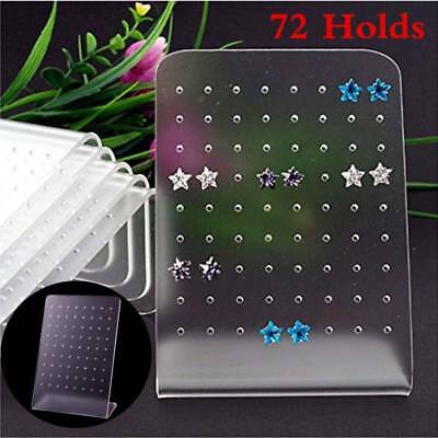 72 Hole Earring Jewelry Display Holder Rack Stand Showcase Organizer Shelf Mould