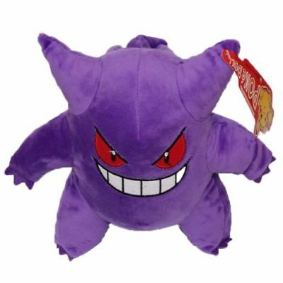 "1PCS Anime POKEMON 9"" L Gengar Soft Plush Toy Doll Gift New"