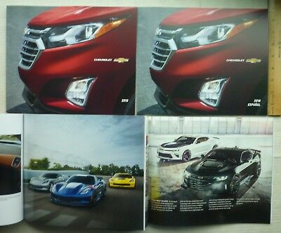 2018 Chevrolet Brochure Catalogs All Models Incl: Corvette In Spanish & English
