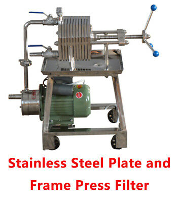 Stainless Steel Plate and Frame Press Filter Ft-150 110V Laboratory Filtration