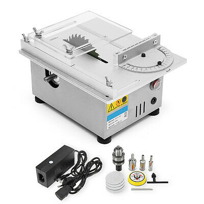 Mini Table Saw Woodworking Bench Lathe Electric Polisher Grinder Cutting 96W