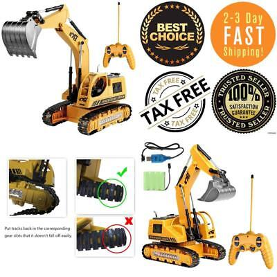 Remote Control Excavator RC Construction Tractor Vehicle W/ Flashing Lights NEW