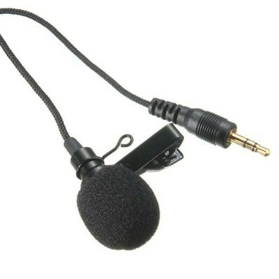 Clip-on Lapel Mini Lavalier Mic Microphone 3.5mm For Smart Phone PC Recording US