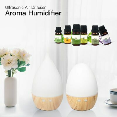 LED Aroma Aromatherapy Diffuser Air Humidifier Purifier Essential  6PCS Oil Kit