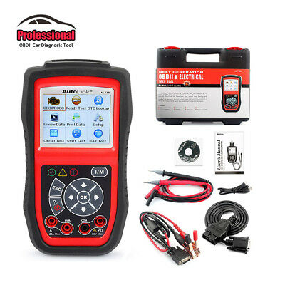 Autel Autolink AL539B OBDII Auto Code Reader Electrical System Battery Test Tool