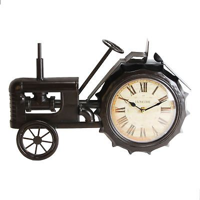 Hometime Vintage Style Tractor Wall or Mantel Clock W2767