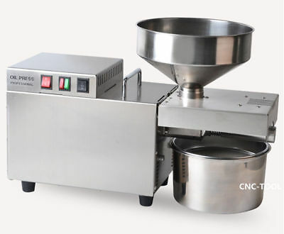 6-10kg/h Automatic Oil Press Machine Peanut Seed Expeller Stainless Steel 220V