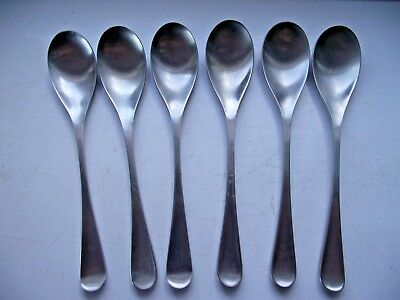 ALVESTON OLD HALL STAINLESS STEEL CUTLERY 6 TEA SPOONS 13.5cm - ROBERT WELCH