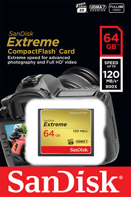 NEW! SanDisk SDCFXSB-064G-G46 64GB 120MB/s CompactFlash Memory Card