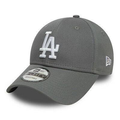 New Era Mens La Dodgers Baseball Cap.9Forty Mlb League Essential Grey Hat 8W2 81
