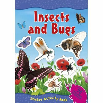 Insects and Bugs Activity Book 70+ Reusable Stickers Full Colour Mini Beasts