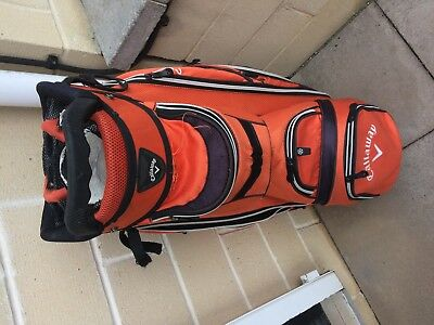 Callaway 14-Way Cart Bag, Bright Orange, Very Well Used, Suit Beginner !
