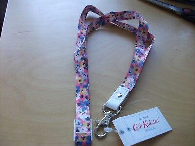 New with tags cath kidston painted pansies lanyard