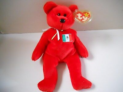 Ty Beanie Baby Bear with tag. Osito -retired  Mexico US Country Exclusive 1999