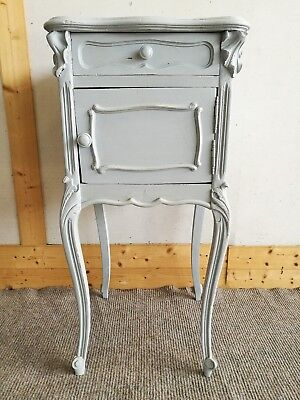 Pretty Antique French Painted Bedside Cabinet