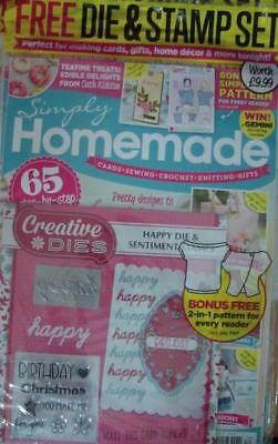Simply Homemad Magazine Issue 70 With Happy Die & Sentiments Stamp Set