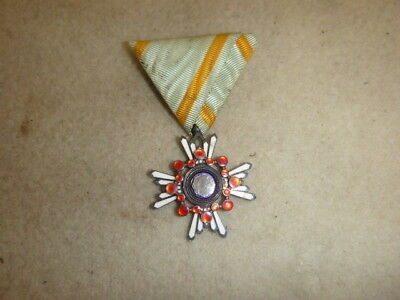 Nice Imperial Japanese Order Of The Sacred Treasure 6Th Class Medal W/ribbon