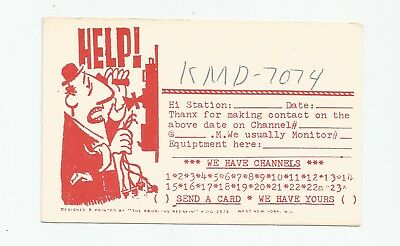 QSL Nice used Radio card from Oradell New Jersey