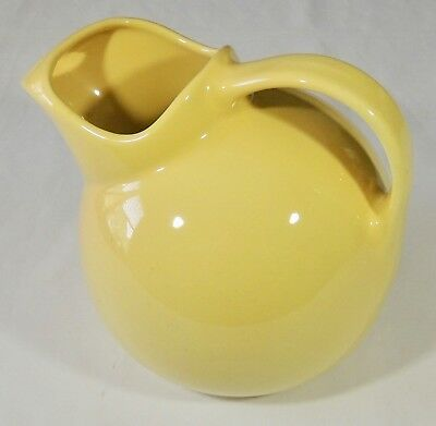 Vintage Coors Chefsware Chefs Ware 190 Yellow Ball Ice Lip Jug Pitcher EUC